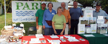 PSNA volunteers at ManorFest 2007 raising funds to fight the landfill.